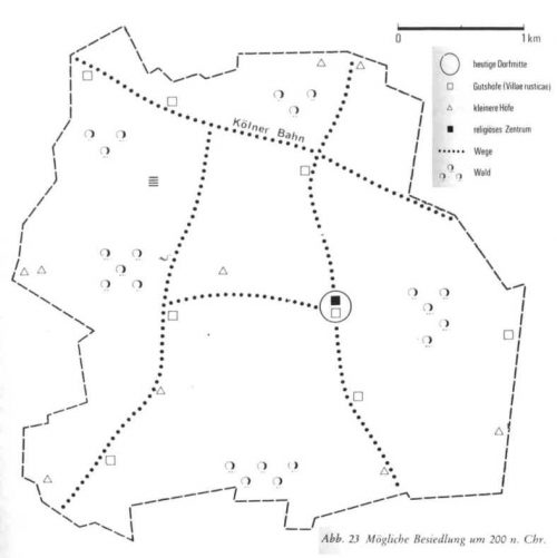 Mögliche besiedlung um 200 n.Chr.
